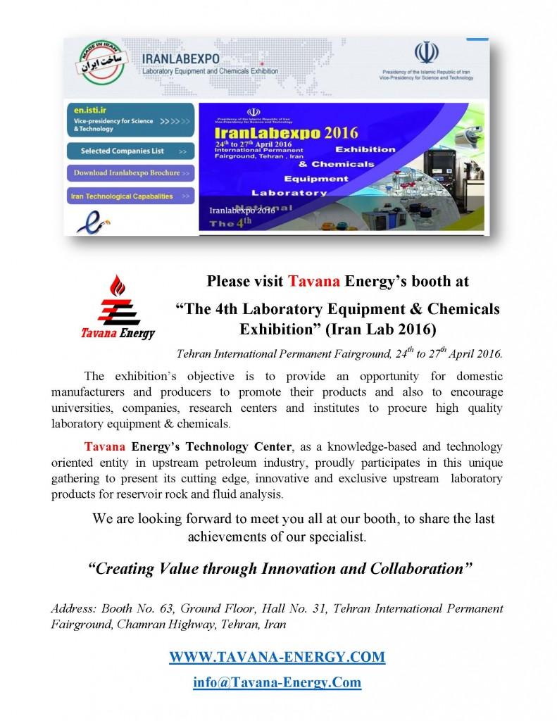 TAVANA Energy in IranLabExpo